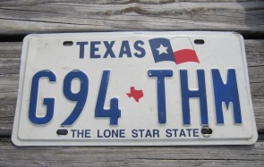 Texas Right Flag License Plate The Lone Star State