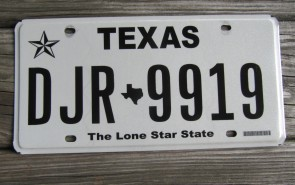 Texas Lone State State License Plate Mountains