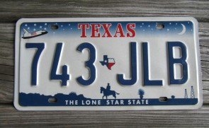 Texas Space Shuttle License Plate The Lone Star State