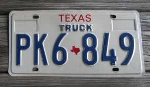 Texas Truck License Plate 1990's