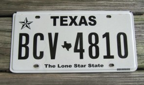 Texas Second Style Flat License Plate The Lone Star State