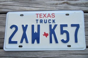 Texas Truck License Plate 2000's