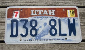 Utah Arch Life Elevated License Plate 2012