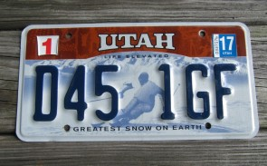 Utah Arch Life Elevated License Plate 2011