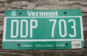 Vermont Green Mountain State License Plate 2004