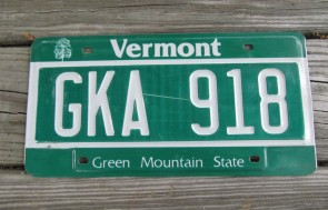 Vermont Green Mountain State License Plate 2013 DXH 593