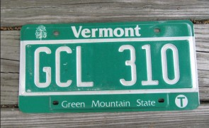 Vermont Green Mountain State License Plate GDG 715