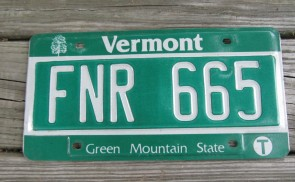Vermont Green Mountain State License Plate