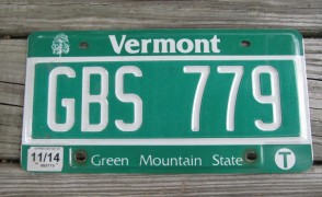 Vermont Green Mountain State License Plate 2014