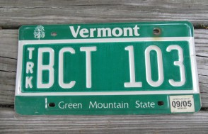 Vermont Green Mountain State License Plate 2005
