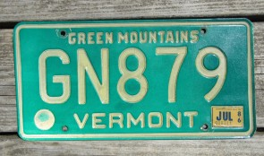 Vermont Green Mountain State License Plate 2009 BEL 634
