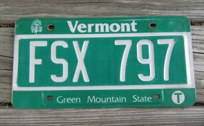 Vermont Green Mountain State License Plate 2015 183 A 259