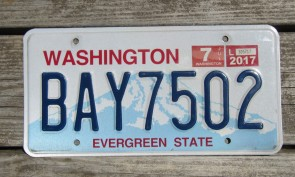 Washington Mt Rainier Volcano License Plate 2015