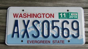Washington Mt Rainier License Plate 2018