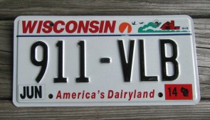 Wisconsin America's Dairyland License Plate 2017