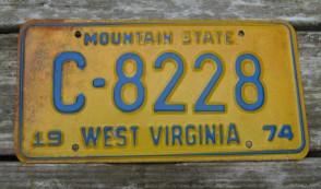 West Virginia Wild, Wonderful License Plate 1997