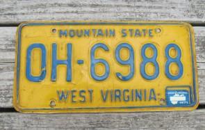 West Virginia Wild, Wonderful License Plate 2002
