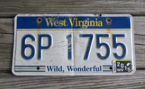 West Virginia Wild Wonderful License Plate 2015