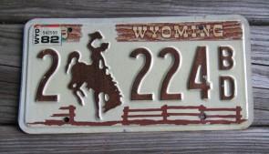 Wyoming Devils Tower License Plate 2006 138 KS