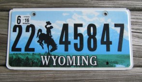 Wyoming Bucking Horse License Plate 2017