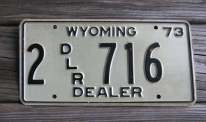 Wyoming Bucking Horse Truck License Plate 2015 Mountains