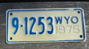 Wyoming Bucking Horse License Plate 2015 Mountains