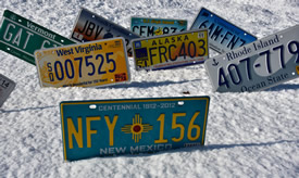 Collector License Plates, Vanity Sample Recent Issue License Plates