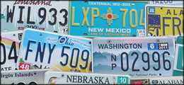 License Plates from 50 USA States, License Plate Collections for Sale, Cheap Antique Vintage License Plates, Old Used License Plates, Classic Vanity Specialty YOM License Plates, Auto Car Motorcycle License Plates Tags