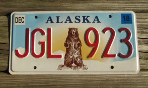 Alaska State Official License Plate from All 50 USA State Official License Plate Collection, Buy Alaska State License Plates, License Plates for Sale, Shop Alaska Collectible License Plates, Order Alaska State DMV License Plates Online, Shop Alaska Collector License Plates for Sale, Cheap Craft License Plates, Alaska Cheap Wholesale Bulk Lots License Plates for Sale