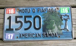 American Samoa Official License Plate, Buy American Samoa License Plates, License Plates for Sale, Shop American Samoa Collectible License Plates, Order American Samoa State DMV License Plates Online, Shop American Samoa Collector License Plates for Sale, Cheap Craft License Plates, American Samoa Cheap Wholesale Bulk Lots License Plates for Sale