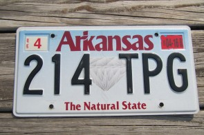 Arkansas State Official License Plate