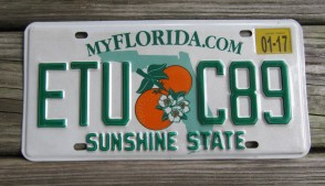Florida State Official License Plate