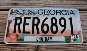 Georgia State One of Two Official State License Plate