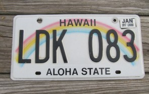 Hawaii State Official License Plate