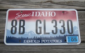 Idaho State Official License Plate