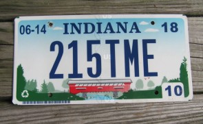 Indiana State Official License Plate