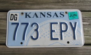 Kansas State Official License Plate