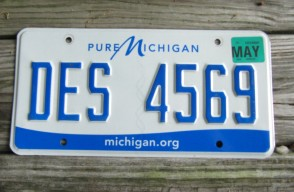 Michigan State Official License Plate