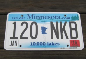 Minnesota State Official License Plate