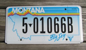 Montana State Official License Plate One of Four