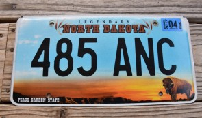 North Dakota Official License Plate