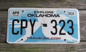 Oklahoma State Official License Plate