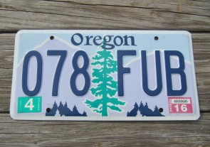 Oregon State Official License Plate