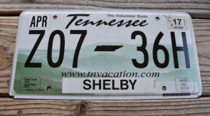 Tennessee State Official License Plate