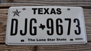 Texas State Official License Plate