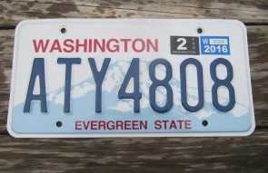 Washington State Official License Plate