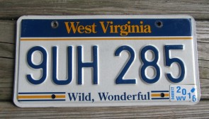 West Virginia State Official License Plate