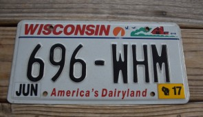Wisconsin State Official License Plate