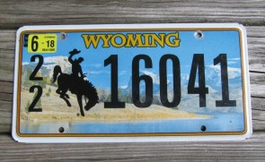 Wyoming State Official License Plate