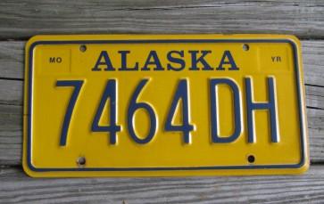Alaska License Plate AK 1990s